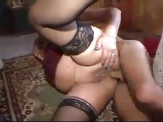 Fat mature anal and cum
